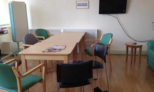 The Harbledown ward day room, Kent and Canterbury Hospital, as it is now. Help make this a welcoming place where patients with dementia can feel more at home